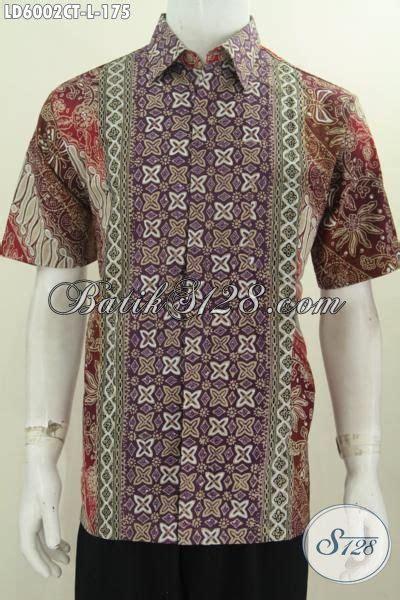 desain baju batik lelaki busana batik lengan pendek motif terbaru pakaian batik