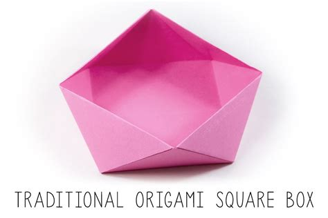 Origami Square - traditional origami square bowl