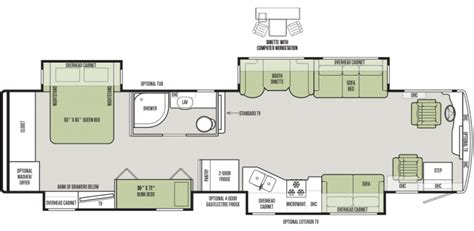 rv plans 12 must see rv bunkhouse floorplans general rv center