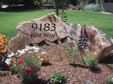 Address Plaques For Front Yard - my front yard a rock slab or boulder with just the house