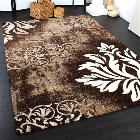 tappeto damascato florens brun matta kungsm 246 bler