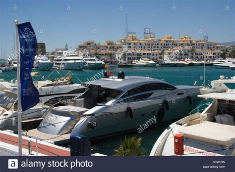 porto banus banus marbella spain marina and houses stock photo