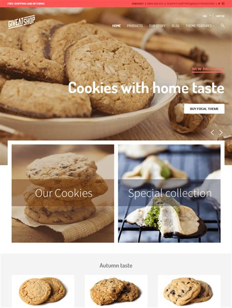 shopify themes bakery 6 of the best shopify themes for bakeries cupcake shops