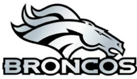 denver bronco logo free coloring pages