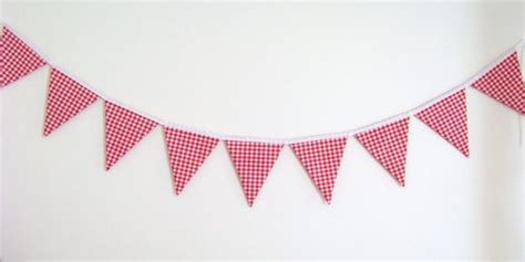 printable gingham banner red gingham fabric bunting banner birthday banner flags