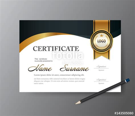 a4 size certificate templates quot certificate template a4 size diploma vector illustration