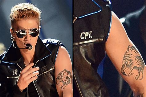 Justin Bieber Animal Tattoo | which singer has the best tattoo of a wild animal