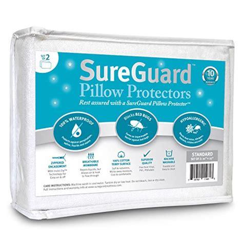 set   standard size sureguard pillow protectors