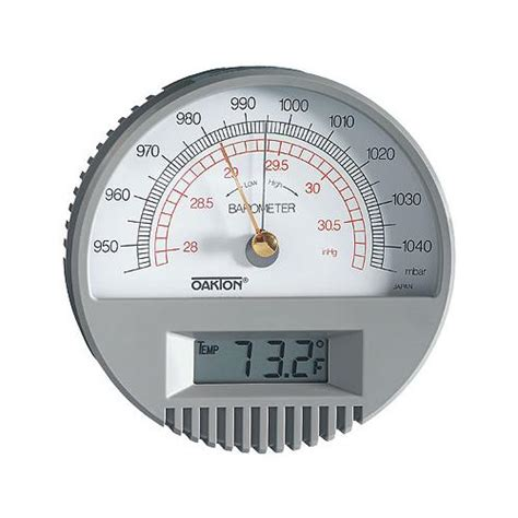 wall mount barometer  digital thermometer