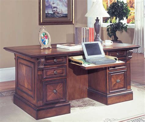 Home Office Desk Collections Wood Executive Desk Collections