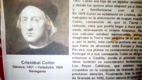biografia cristobal colon resumen biografia de cristobal colon youtube