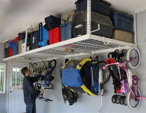 Garage Shelving Orange County Garage Overhead Storage By Saferacks Traditional
