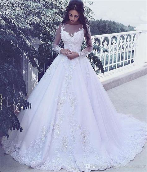 arabic bridal gowns arabic style lace long sleeve wedding dresses sheer