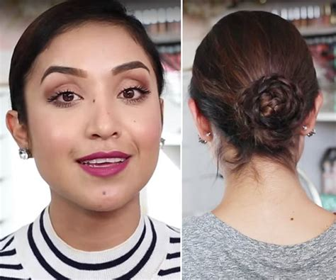 braided bun hairstyles for military woman video veteran s day hairstyles military hair tutorial