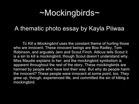to kill a mockingbird themes essay introduction to kill a mockingbird photo essay by kayla piiwaa