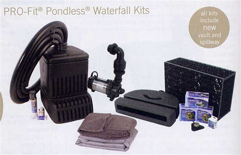 aquascape pondless waterfall kit water garden pond products pondless waterfall stream