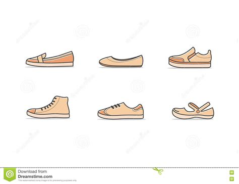 types of comfort types of woman shoes stock vector illustration of icon