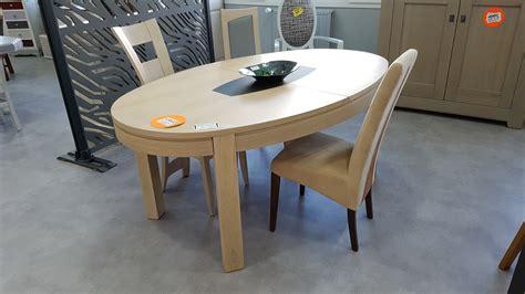 table ovale en ch 234 ne blanchi avec allonge papillon et