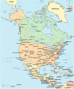 map of the usa and canada with cities on it america political map