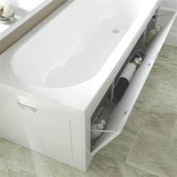 Wet Bathtubs Cooke Amp Lewis Gloss White Bath Front Panel Departments