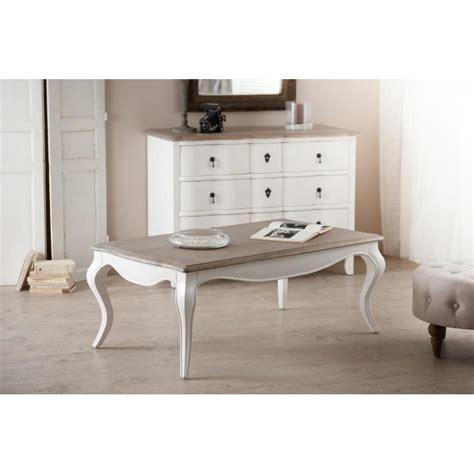 table basse bois blanche table basse blanche baroque manguier 115x66x46cm odyss 201 e