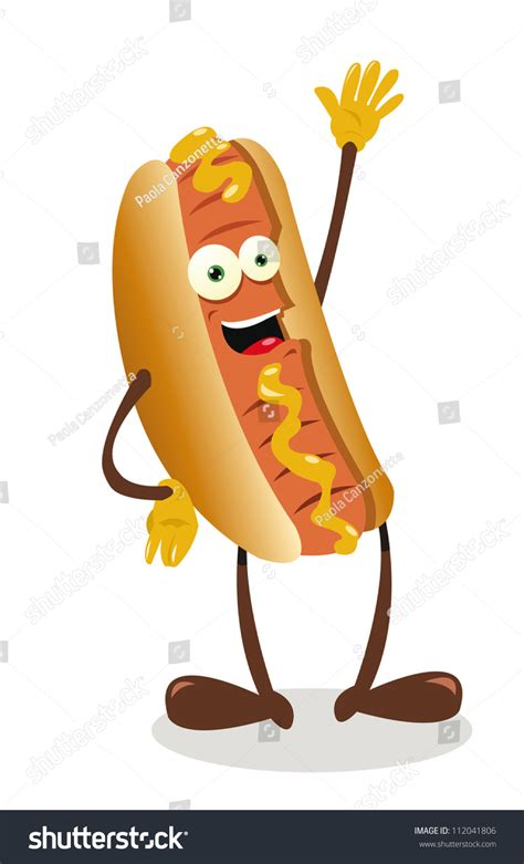 funny hot dog pic vector cartoon representing funny hot dog stock vector