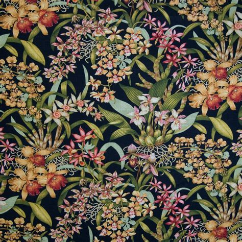 Tropical Fabric Prints For Upholstery by Shop Houzz Kovi Fabrics Black Floral Tropical Print