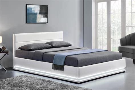 lit blanc 160x200 cadre de lit led design blanc new york 160x200 cm