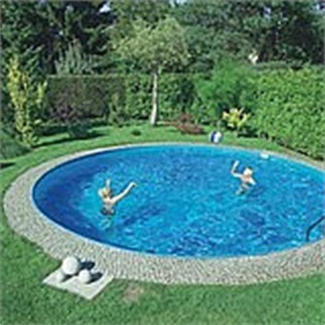 runder pool im garten tipp doppelt isolierte beckenw 228 nde im pool isoliertes