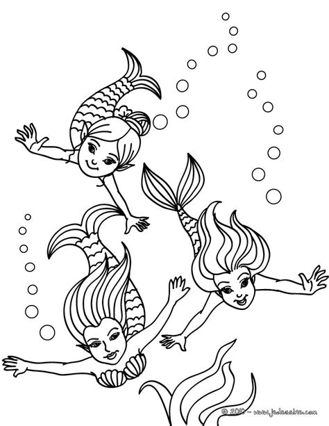 Mermaid Family Coloring Page | coloriages coloriage jolies petites sir 232 ne fr hellokids com