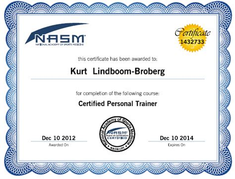 nasm section image gallery nasm personal training certification