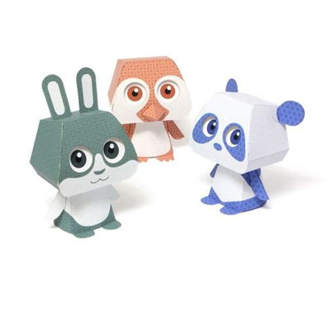 Kawaii Paper Crafts - kawaii 3d paper animal pal printables allfreepapercrafts