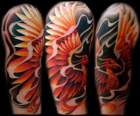 phoenix tattoo with background fire bird black background tattoo by transcend tattoo