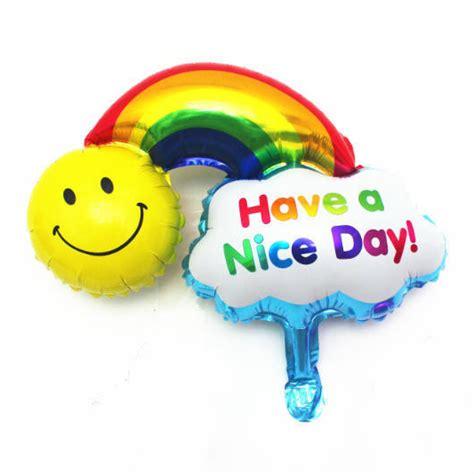 Balon Foil Sun Smile Rainbow 10pcs lot rainbow smile balloon happy birthday decoration foil balloon sun