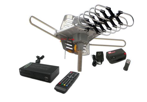 outdoor hdtv dtv range tv antenna digital dvr converter box system ebay