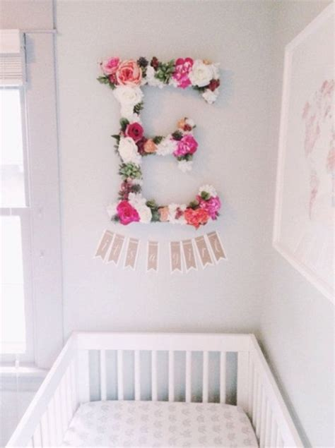 Name Decorations For Nursery The 25 Best Flower Letters Ideas On Pinterest Diy Letters Diy Wall Flowers And