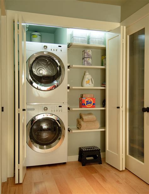 Try This Organize Your Small Home With Accordion Doors Small Laundry