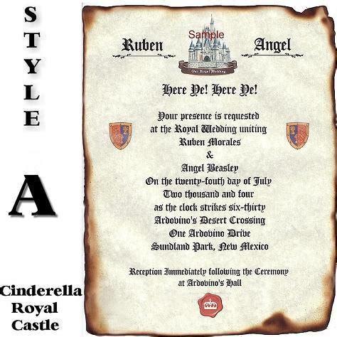 renaissance scroll wedding invitations royal cinderella renaissance scroll wedding invitations