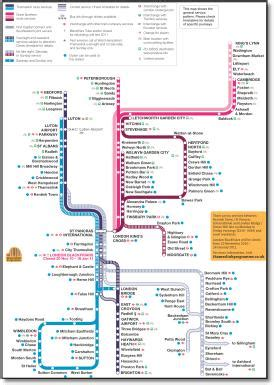 themes link train map first capital connect route map