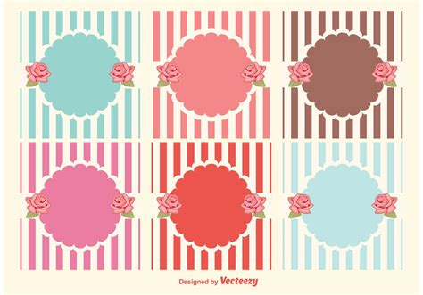 shabby chic style labels download free vector art stock