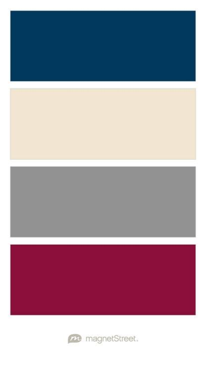 burgundy color palette navy chagne classic gray and burgundy wedding color