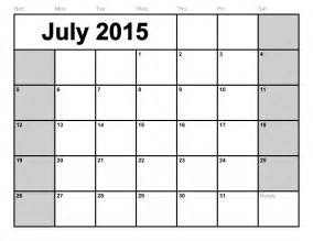 Free Downloadable 2015 Calendar Template by July 2015 Calendar Printable Template Big Size 6 Templates