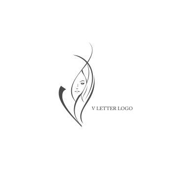 v tattoo logo v letter beautician logo design download vector logos