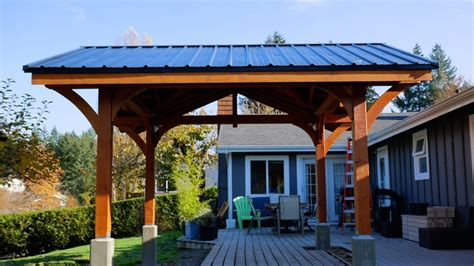 gable timber frame pavilion  manabouttools