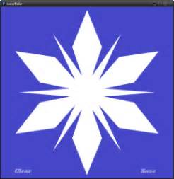 Easy Snowflake Outline by Snowflake App Designs And Prints Your Flake To Pdf