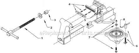 bench vise replacement parts wilton 205 parts list and diagram ereplacementparts com
