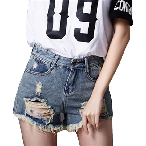 pattern for jeans shorts ripped holes jeans shorts women street fashion pattern