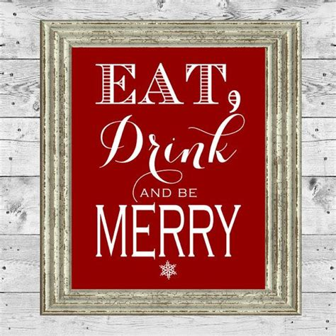 eat drink   merry sign printables overview  eat drink   merry digital file