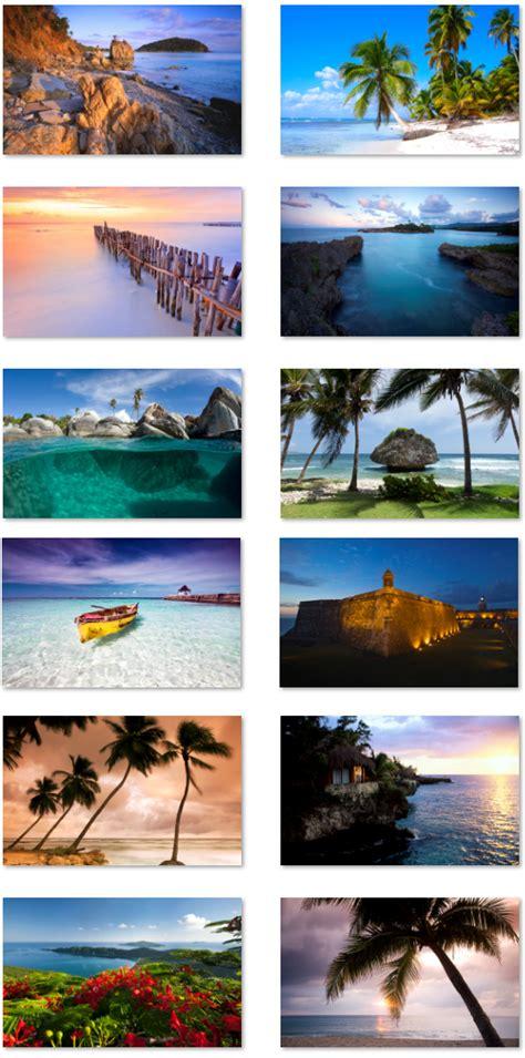 pc themes yi long desktop fun caribbean shores theme for windows pureinfotech