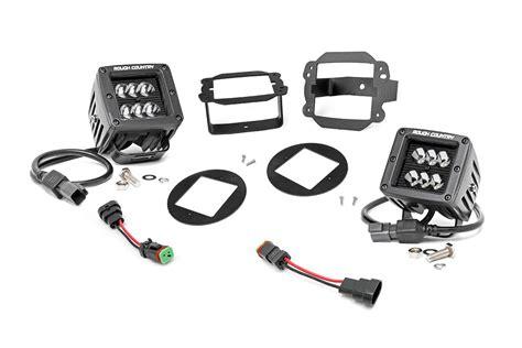2 inch led lights 2 inch square cree black series led fog light kit for 10